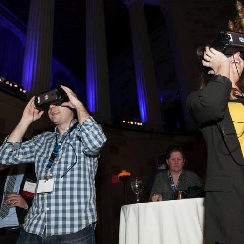 Alumni take a trip back to campus using VR