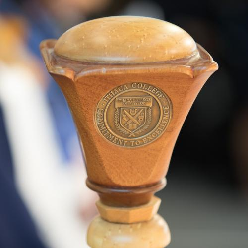 The Ithaca College scepter.
